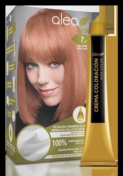 Vopsea De Par Cu Ulei De Argan Blond Aramiu 74 Alea Color Kit 155